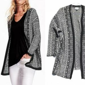 Long Thick Knit Cozy Cardigan Sweater XL
